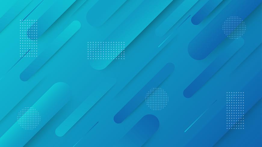 Fundo geométrico gradiente abstrato. Formas simples com gradientes da moda vetor