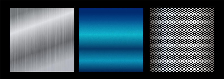 Gradientes coloridos da coleção grande. Gradientes metálicos que consistem em fundos. Vetor. vetor