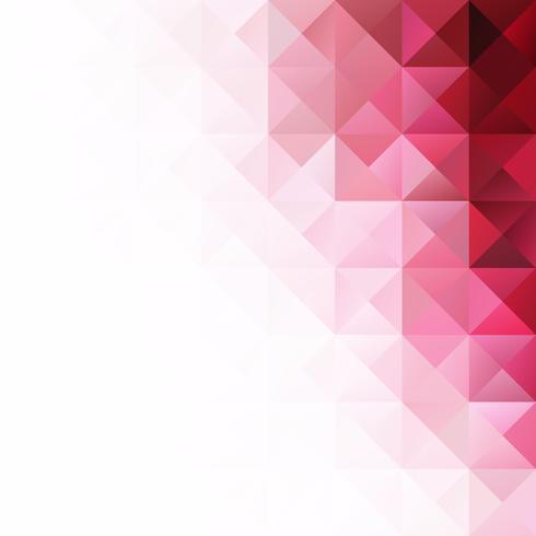 Fundo do mosaico de grade vermelha, modelos de Design criativo vetor