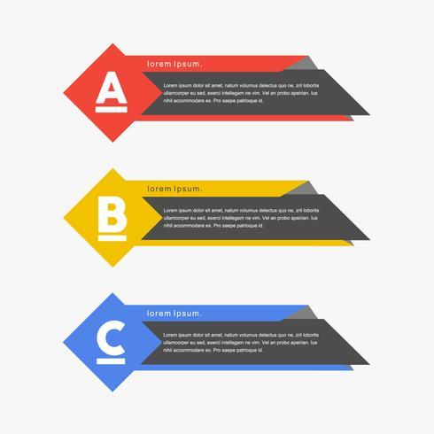 Banners coloridos de conceito colorido vector png