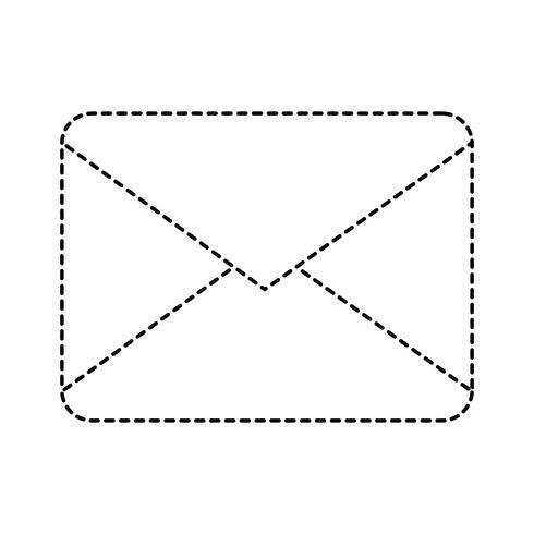 mensagem de cartão de carta de forma pontilhada fechada com informações do documento vetor