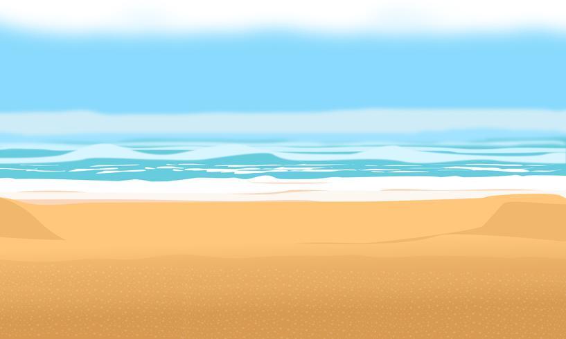 Fundo para a praia de verão e férias. ilustração de desenho vetorial vetor