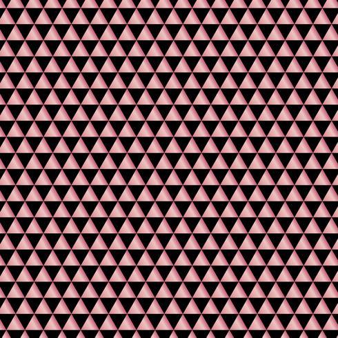 Triângulos geométricos metálicos do ouro cor-de-rosa abstrato do teste padrão no fundo preto. Elegante para banner web, cartão de convite de festa, Natal, celebração, casamento, cartaz, folheto. vetor