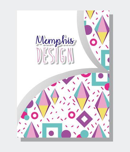 Modelo de Memphis e fundo vetor