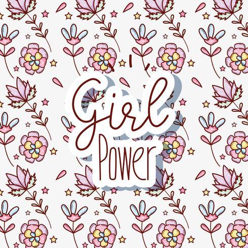 Mulher, poder, padrão, fundo vetor