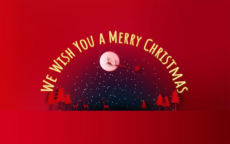 Feliz Natal e Feliz Ano Novo. Venda de Natal. Fundo de férias. estilo de artesanato de papel. vetor