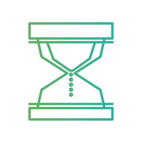linha objeto ampulheta para saber o tempo vetor