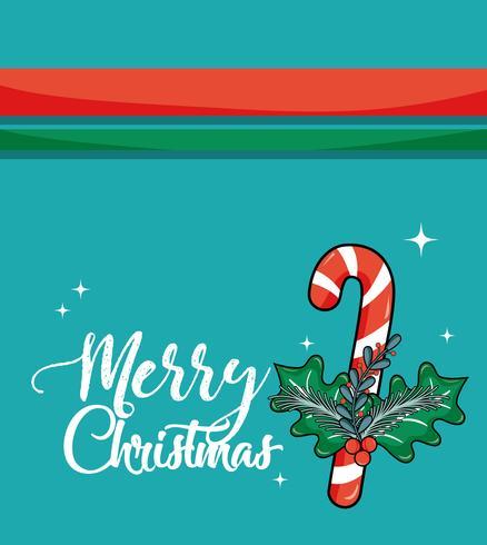 cartão de decoração alegre chistmas para celebração vetor
