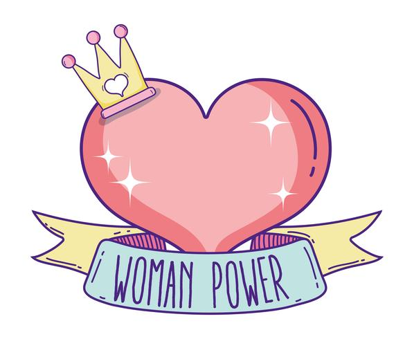 Desenhos animados bonitos do poder da menina vetor