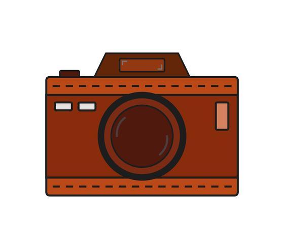 Ícone da câmera em um fundo branco vetor