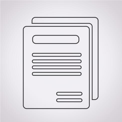 Livro, ícone, símbolo, sinal vetor