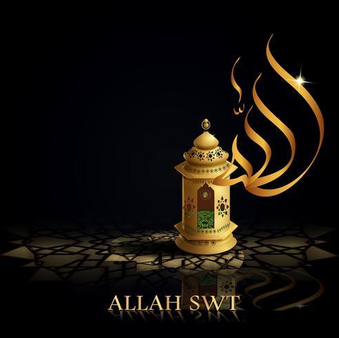 fundo caligrafia árabe ramadã kareem vetor