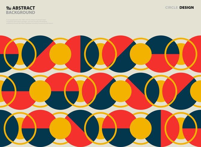 Projeto redondo da tampa do teste padrão do círculo colorido abstrato do vintage. ilustração vetorial eps10 vetor