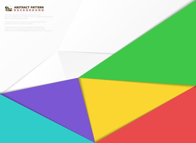 O papel colorido abstrato cortou o fundo dos elementos do projeto do teste padrão. ilustração vetorial eps10 vetor