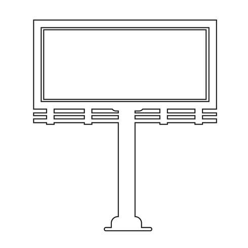 Ícone de apresentação de outdoor vetor