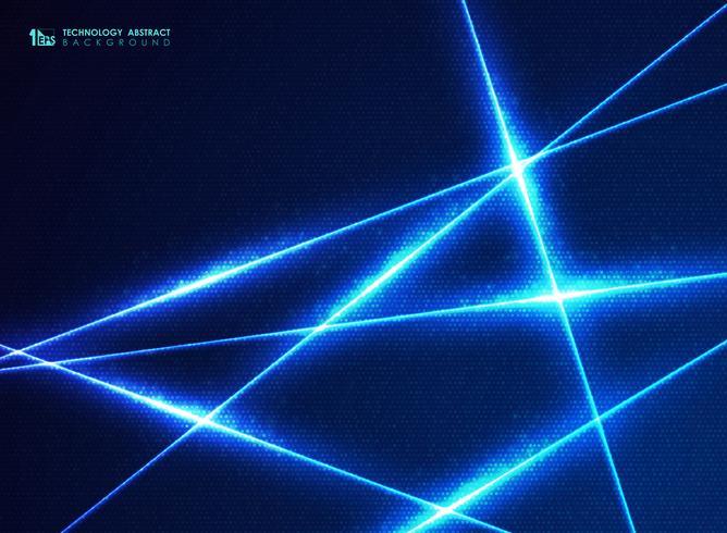 Linha azul abstrata da tecnologia de teste padrão de pontos do projeto da energia para o fundo grande dos dados. vetor