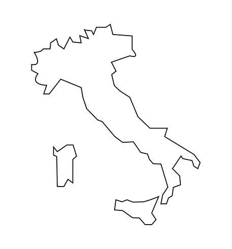 Itália e ilhas mapa vetor