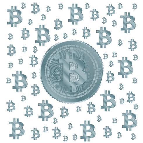 padrão azul claro de bitcoin vetor
