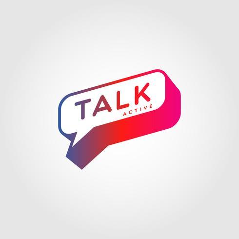 Colorful Gradient Bubble Talk Logo Ícone de símbolo de sinal vetor
