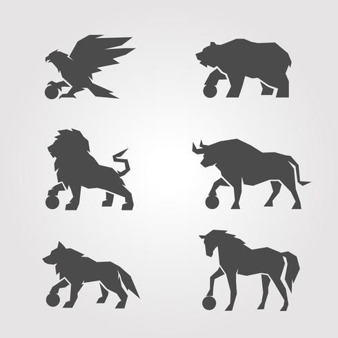 Símbolo icônico animal vetor