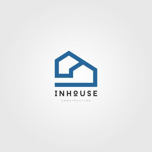 Simple House Property Logo Ícone de símbolo de sinal vetor