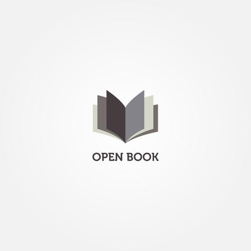 Simple Clean Book Logo Ícone de símbolo de sinal vetor