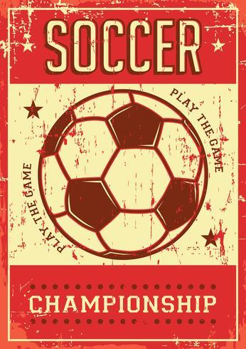 Futebol Futebol Esporte Retro Pop Art Poster Signage vetor