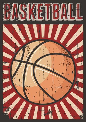 Basquete Futebol Esporte Retro Pop Art Poster Sinalização vetor