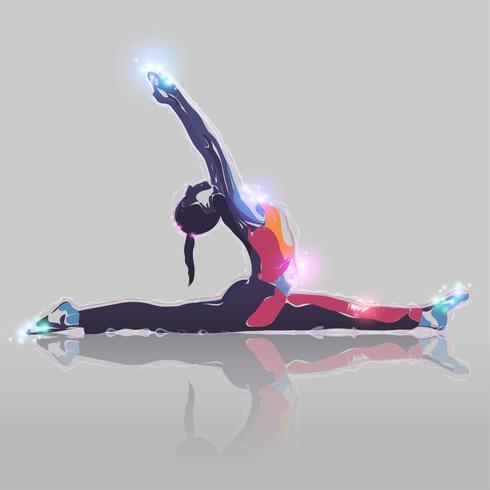 Menina abstrata da ioga vetor