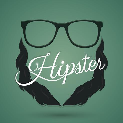 Sinal de óculos hipster vetor