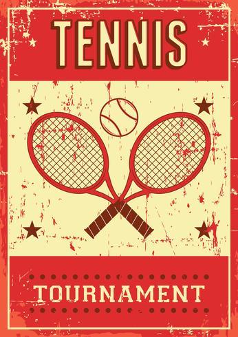 Poster retro do pop art do esporte do tênis vetor