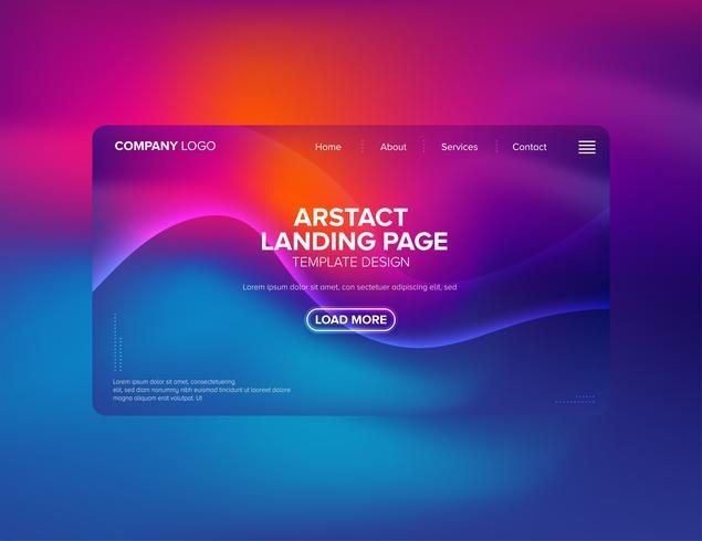 Design de modelo de página de destino vetor