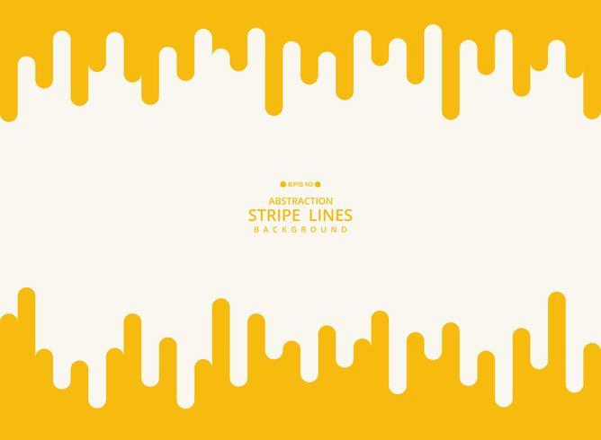 Fundo moderno abstrato da linha amarela teste padrão geométrico da listra. vetor