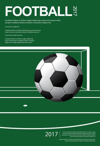 futebol futebol cartaz vestor ilustração vetor