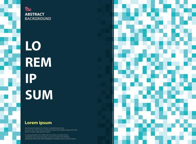 Cor azul do pixel abstrato do projeto da capa de revista. Decorar em apresentação de negócios. vetor