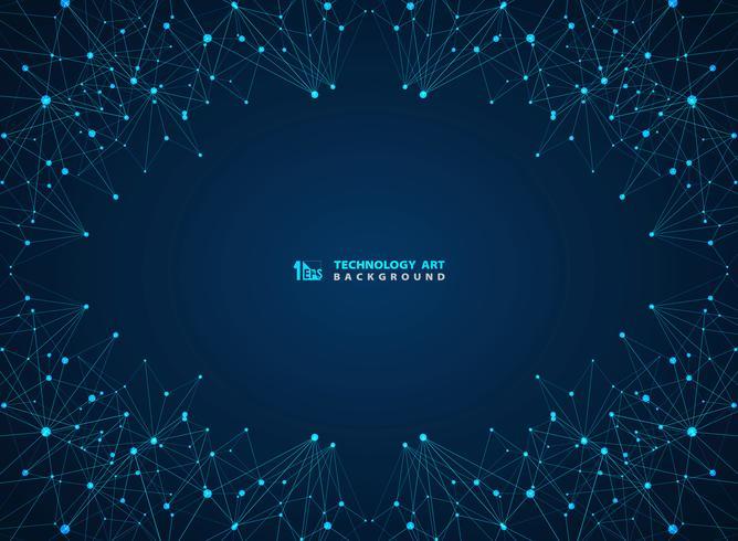 Linha digital fundo da tecnologia azul abstrata dos lasers. ilustração vetorial eps10 vetor