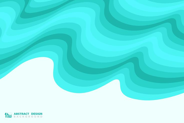 Fundo ondulado azul abstrato da decoração do projeto do teste padrão do mar. ilustração vetorial eps10 vetor
