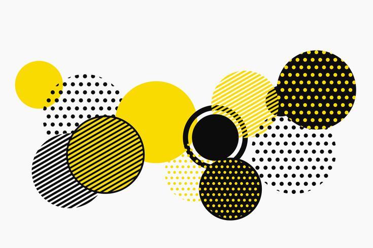 Projeto geométrico preto e amarelo abstrato do vetor do teste padrão da forma. ilustração vetorial eps10
