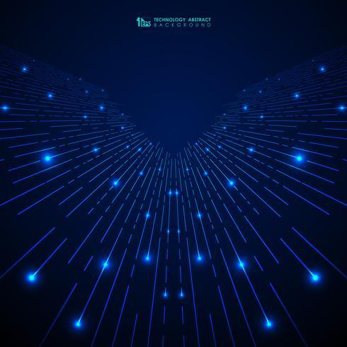 A listra azul abstrata da tecnologia do inclinação alinha o teste padrão com fundo dos brilhos. Você pode usar para capa moderna, anúncio, cartaz, trabalho artístico. vetor