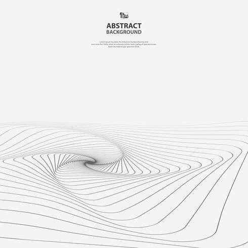 Linha geométrica abstrata de fundo do teste padrão da arte. vetor