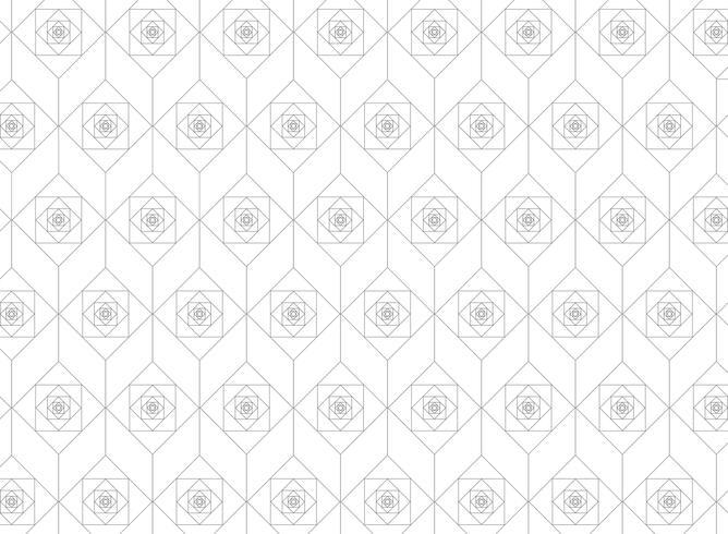 Linha geométrica quadrada moderna abstrata fundo do teste padrão. vetor