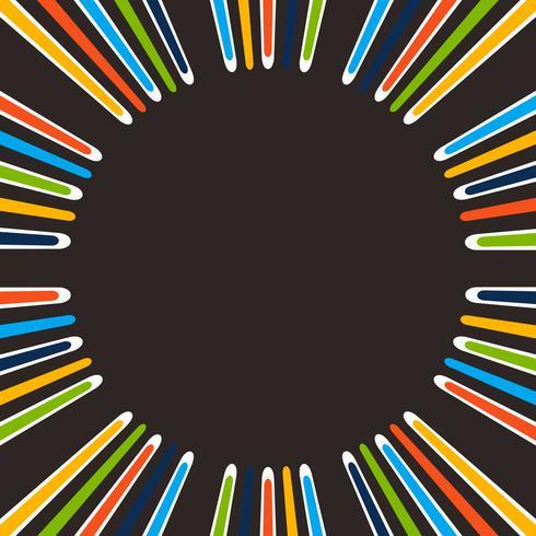 Sumário da linha colorida simples da listra no fundo center. vetor