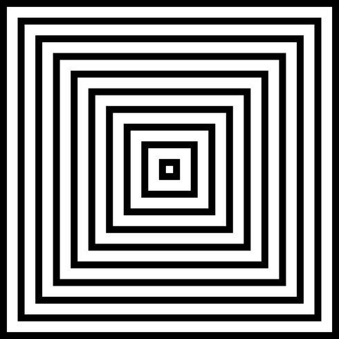 Sumário do fundo preto e branco da pirâmide quadrada. vetor