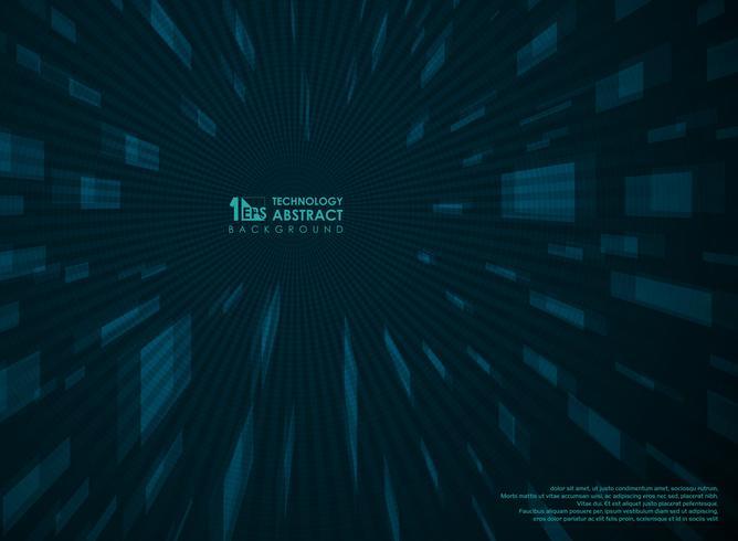 Fundo azul da perspectiva futurista abstrata da tecnologia geométrico. vetor
