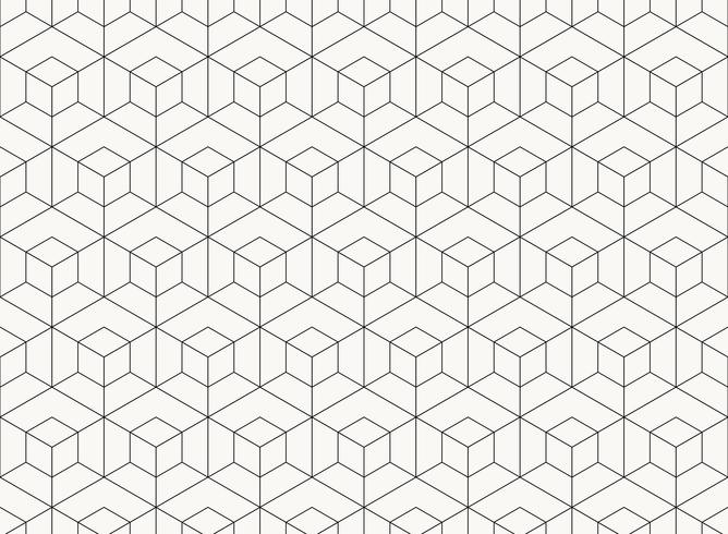 Linha preta geométrica do projeto do hexágono do teste padrão de fundo da tecnologia. ilustração vetorial eps10 vetor