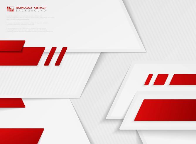 Cor vermelha do inclinação abstrato do vetor do molde da tecnologia no fundo branco. ilustração vetorial eps10