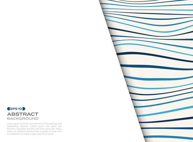 Tampa abstrata do teste padrão ondulado azul com espaço livre do fundo do texto. vetor