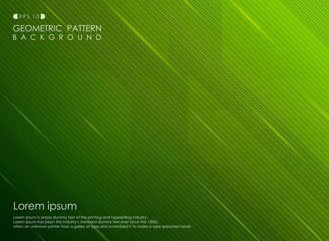 Linha abstrata negócio da listra do verde do inclinação do fundo do projeto. vetor