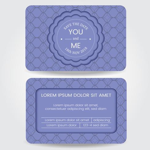 Modelo de cartão de casamento vetor