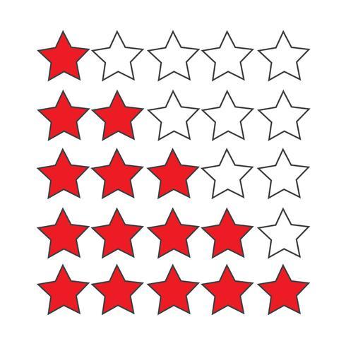 Estrelas de avaliação vetor